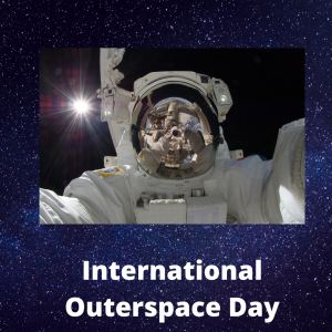 Happy International outerspace Day,  selfie in space