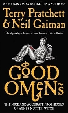 Good Omens by Terry Pratchett and Neil Gainman  book cover
