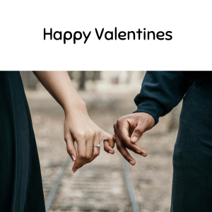 Happy Valentines could holding hands