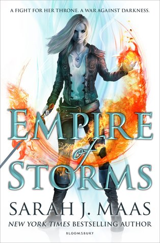 Empire of Stomrs, Throne of Glass series by Sarah J Maas, book Cover