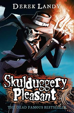 Skulduggery Pleasant Book cover by Dereke Landy