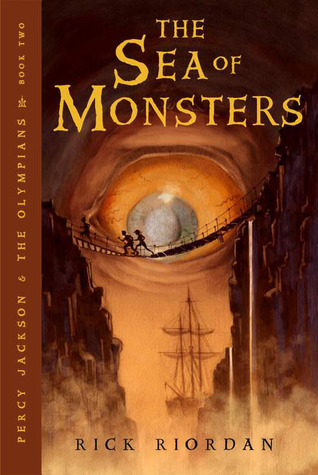 Percy Jackson and the Sea of Monsters by Rick Riordan Book Cover