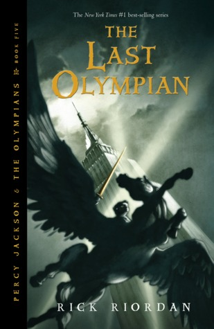 Percy Jackson and the Last Olympian by Rick Riordan book cover