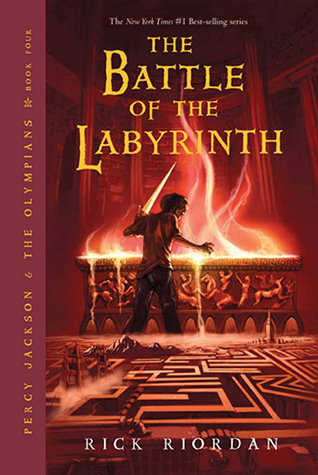 Percy Jackson and the Battle of the Labyrinth, by Rick Riordan book cover