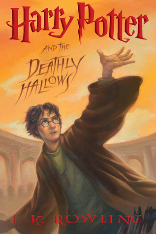 Harry Potter and the Deathly Hallows by J K Rowling book cover