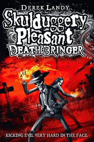 Skulduggery Pleasant Deathbringer by Derek Landy book cover
