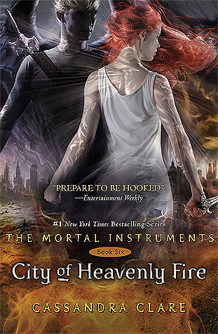 City of Heavenly Fire by Cassandra Clare, book cover, book 6 of The Mortal Instruments Series